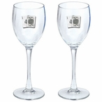 Black Jack Pewter Accent Wine Glass Goblets, Set of 2