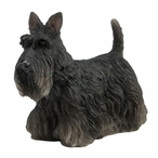 Black Scottish Terrier Dog Sculpture