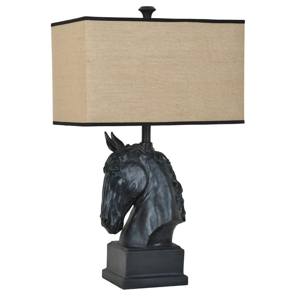 Black stallion horse resin table lamp with black trim burlap shade black stallion horse resin table lamp with black trim burlap shade aloadofball Gallery