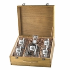 Blackjack Capitol Decanter & DOF Glasses Box Set with Pewter Accents