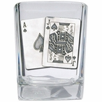 Blackjack Pewter Accent Shot Glasses, Set of 4