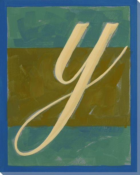 Block Letter Y Wrapped Canvas Giclee Print Wall Art - Wall Decor ...