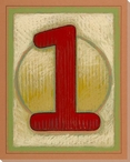 Block Number 1 Wrapped Canvas Giclee Print Wall Art