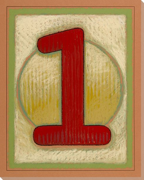 Block Number 1 Wrapped Canvas Giclee Print Wall Art - Wall Decor ...