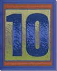 Block Number 10 Wrapped Canvas Giclee Print Wall Art