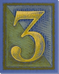Block Number 3 Wrapped Canvas Giclee Print Wall Art