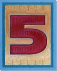 Block Number 5 Wrapped Canvas Giclee Print Wall Art