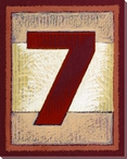 Block Number 7 Wrapped Canvas Giclee Print Wall Art