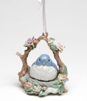 Blue Bird Musical Christmas Tree Ornaments, Set of 2