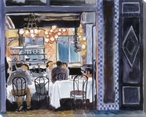 Blue Cafe Wrapped Canvas Giclee Print Wall Art