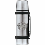 Blue Crab Stainless Steel Thermos with Pewter Accent