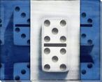 Blue Dominoes Wrapped Canvas Giclee Print Wall Art