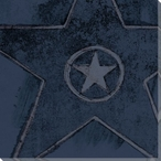 Blue Hollywood Walk of Fame Star Wrapped Canvas Giclee Print