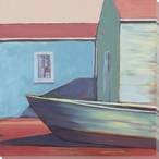 Boat House Color Block 3 Wrapped Canvas Giclee Print Wall Art