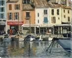 Boats at Cassis Provenance France Wrapped Canvas Giclee Print Wall Art