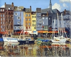 Boats at Honfleur Wrapped Canvas Giclee Art Print Wall Art