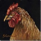 Bobbsie the Rooster Bird Wrapped Canvas Giclee Print Wall Art