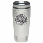 Bobwhite Quail Bird Stainless Steel Travel Mug with Pewter Accent