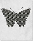 Bold Butterfly 2 Wrapped Canvas Giclee Print Wall Art