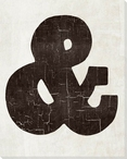 Bold Shapes Ampersand Symbol Wrapped Canvas Giclee Print Wall Art