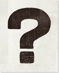 Bold Shapes Question Mark Symbol Wrapped Canvas Giclee Print