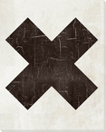 Bold Shapes X Symbol Wrapped Canvas Giclee Print Wall Art