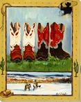 Boots & Riders Wrapped Canvas Giclee Print Wall Art