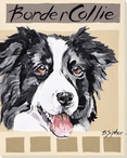 Border Collie Dog Wrapped Canvas Giclee Print Wall Art
