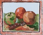 Bordered Fruit Wrapped Canvas Giclee Print Wall Art