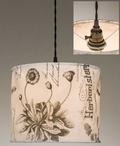 Botanical Prints Canvas Pendant Lamp Light