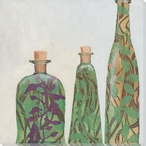 Bottled Wood Vases Wrapped Canvas Giclee Print Wall Art