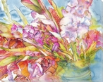Bounty of Flowers Wrapped Canvas Giclee Print Wall Art