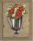 Bouquet Flowers IV Wrapped Canvas Giclee Print Wall Art