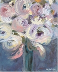 Bouquet of Striking Flowers Wrapped Canvas Giclee Print Wall Art