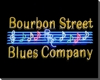 Bourbon Street Blues Co. Neon Sign Wrapped Canvas Giclee Print