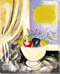 Bowl of Assorted Fruit Wrapped Canvas Giclee Print Wall Art