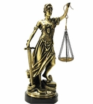 Brass Lady of Justice Statue