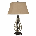 Braxton Metal Table Lamp with Burlap Shade