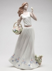 Breezy Spring Time Lady Porcelain Sculpture