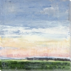 Bright Horizon Scenic View Wrapped Canvas Giclee Print Wall Art