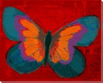 Brilliant Purple Butterfly Wrapped Canvas Giclee Print Wall Art