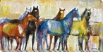 Brilliant Stallion Horses Wrapped Canvas Giclee Print Wall Art