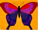 Brilliant Yellow Butterfly Wrapped Canvas Giclee Print Wall Art