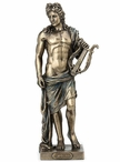 Bronze Apollo Holding Lyre Sculpture