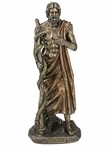 Bronze Asclepius Greek God of Medicine Sculpture