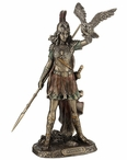 Bronze Athena Greek Goddess of Wisdom & War Cast off the Owl Sculpture