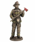 Bronze Be Proud, Be Brave, Be Prepared Firefighter Sculpture
