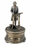 "Bronze Beethoven's ""9th Symphony"" Music Box Sculpture"