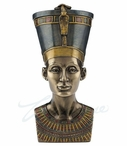 Bronze Bust of Egyptian Queen Nefertiti Trinket Box