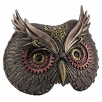 Bronze Carnival Steampunk Owl Mask Wall Plaque